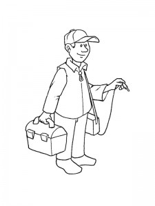 coloring page Electrician
