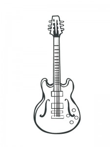 coloring page Electric guitar (1)