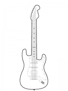 coloring page Electric guitar