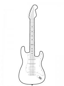 målarbok Elektrisk gitarr