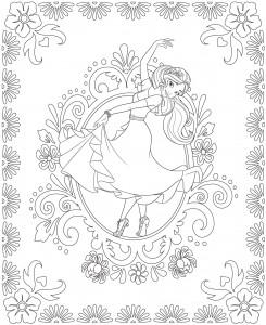 coloring page Elena 2