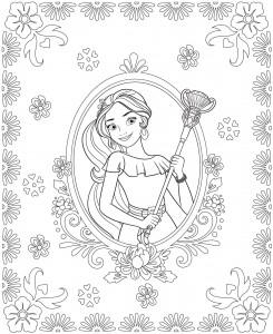 coloring page Elena 3