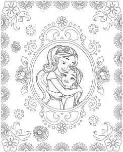 coloring page Elena Isabel