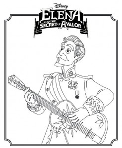 coloring page Elena or avalor 2