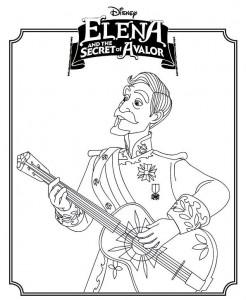 målarbok Elena eller avalor 2