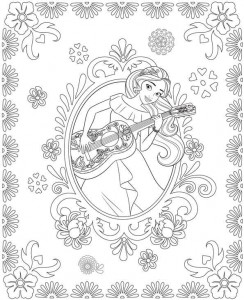 coloring page Elena or avalor