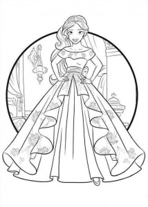 coloring page Elena from Avalor (1)