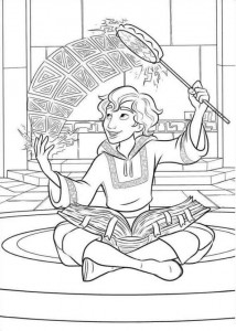 coloring page Elena from Avalor (18)