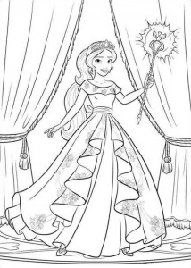 coloring page Elena from Avalor (23)