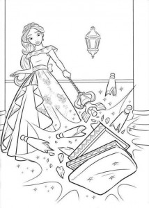 coloring page Elena from Avalor (24)
