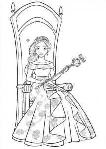 coloring page Elena from Avalor (26)