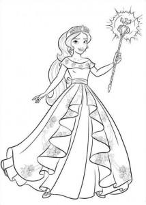 målarbok Elena från Avalor (28)