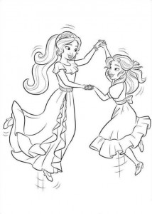 coloring page Elena from Avalor (6)