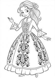 coloring page Elena from Avalor