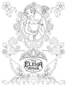 kleurplaat Elena