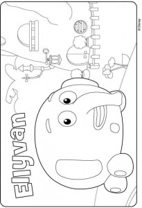 coloring page ellyvan