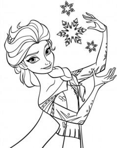 Dibujo para colorear Elsa 5
