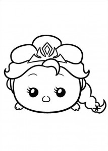 Dibujo para colorear Elsa (6)