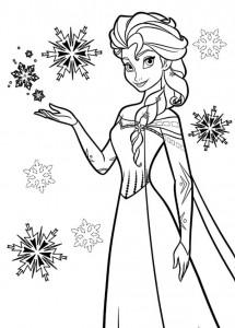 Dibujo para colorear Elsa