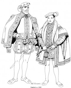 coloring page England, 1550 (1)