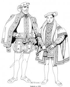 kleurplaat Engeland, 1550 (1)
