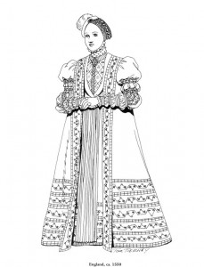 coloring page England, 1550