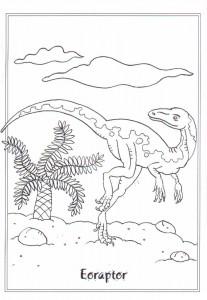 kleurplaat Eoraptor
