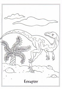 Eoraptor coloring page