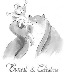 kleurplaat Ernest en Celestine