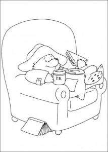 coloring page Mat til TV-en