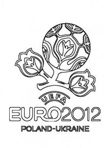 kleurplaat Euro 2012