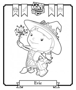 coloring page Evie