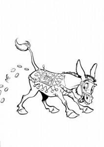 coloring page Donkey you stretch