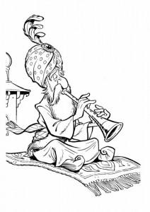 Dibujo para colorear Fakir