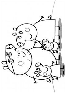 målarbok Peppa familj