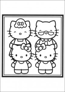 coloring page Family portrait of Kitty