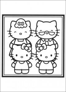 Dibujo para colorear Retrato familiar de Kitty