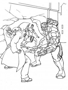 kleurplaat Fantastic Four (1)