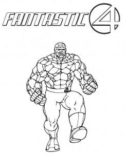 kleurplaat Fantastic Four (10)