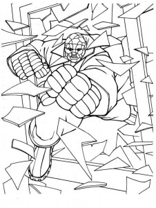 coloring page Fantastic Four (11)