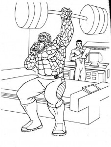 coloring page Fantastic Four (13)