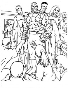 coloring page Fantastic Four (14)
