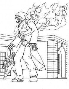 coloring page Fantastic Four (16)