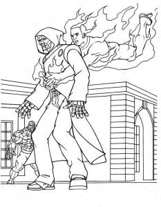 kleurplaat Fantastic Four (16)