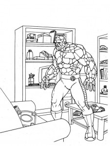 coloring page Fantastic Four (18)