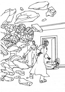 coloring page Fantastic Four (19)