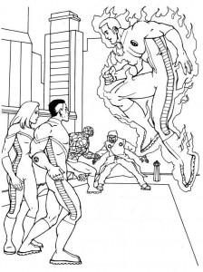kleurplaat Fantastic Four (2)