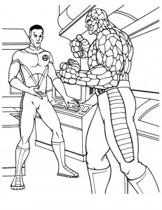 coloring page Fantastic Four (20)