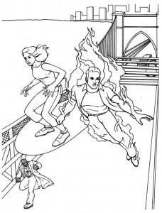 kleurplaat Fantastic Four (29)
