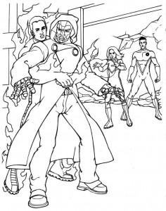 kleurplaat Fantastic Four (3)